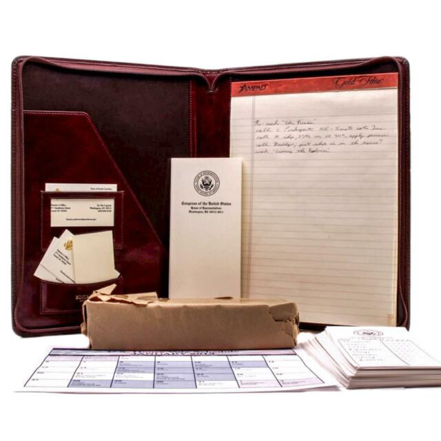 House of Cards Screen Used Whip Notebook & Office Paperwork Set Ss 1 & 2