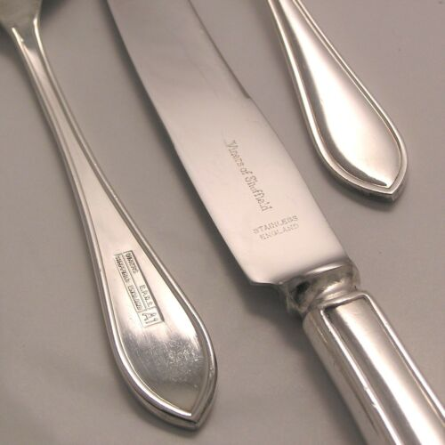SANDRINGHAM Design VINERS OF SHEFFIELD Silver Service Cutlery Soup Spoon 7/""