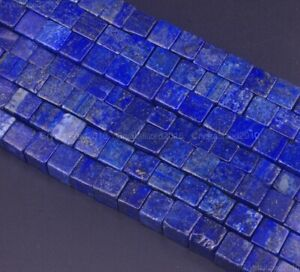 """Natural Lapis Lazuli Gemstone Square Cube Spacer Beads 4mm 6mm 8mm 10mm 15.5/"""""""