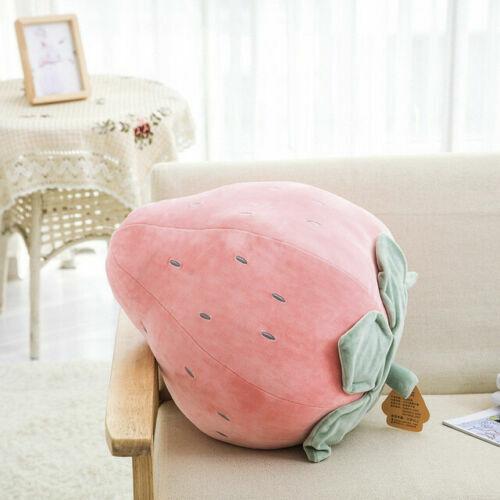 Nouveauté Food Plush Toy Stuffed Throw Pillow Home Sofa Coussin 3D Fruit UK