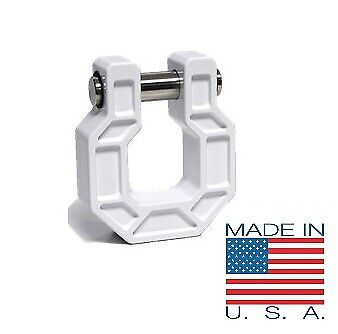 Tested at 35,000 lbs D Ring Shackle Receiver Hook Made in USA Recovery Hook Bumper Hook Show Hook