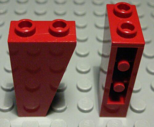 Lego Pierre oblique négatif 1x2x3 Rouge Foncé 2 Pièces 1208 #