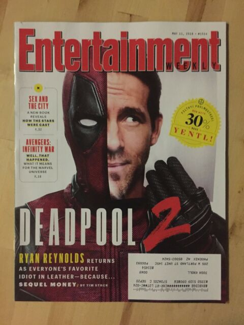 Entertainment Weekly :: May 11, 2018 :: Deadpool 2 :: Ryan Reynolds