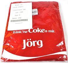 Coca-Cola Coke Jörg Camiseta roja tamaño XL Nombre de pila con