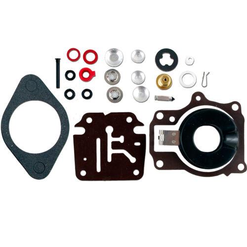 Set of 2 Carburetor Carb Rebuild Kit w Float For Johnson Evinrude 50 55 60 HP