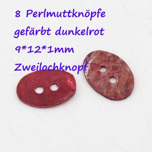 10 Perlmuttknöpfe Knopf Blume Muschel Knöpfe Naturknopf MOPShell Button rot rosa