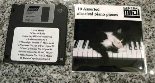 10 Assorted Classical Piano Music for Yamaha Disklavier /& GM MIDI Player Pianos