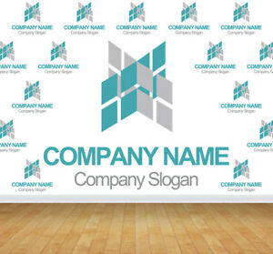 Details About Company Logo Bespoke Wallpaper Backdrop Printed Wall Mural Feature Decal Graphic