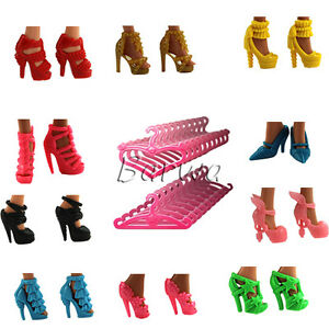 Handmade-Fashion-Shoes-Boots-20-Clothes-Hangers-for-Barbie-Doll-Xmas-Gifts