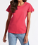 BNWT Ladies M/&S Pure Cotton Flutter Sleeve Work T Shirt PINK Was £12.50 Now £5