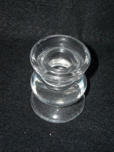 """New for 7//8/"""" taper candles Taper Candle Holder 2 1//2/"""" tall Clear Glass"""