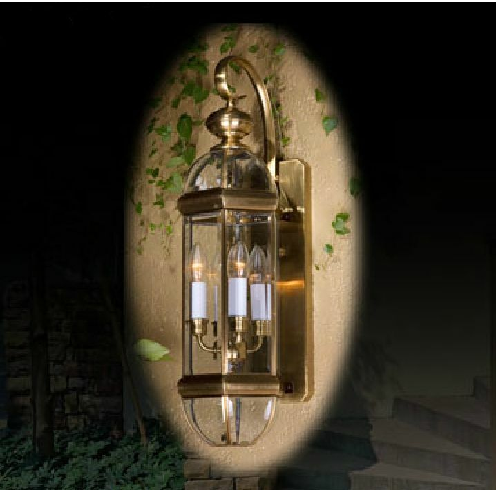 American Rural Style Diameter 21CMHeight 68CM 4Lights Glass Copper Wall Lamp