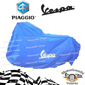 Telo-Copri-Moto-Blu-Scritta-Vespa-50-125-150-200-special-R-l-n-px-et3-piaggio
