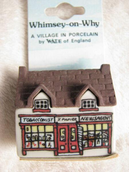 Wade Porzellan, Whimsey-on-why Nr.4 Tobacconist Shop, A Village In Porcelain Elegant Im Geruch