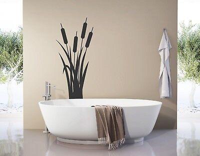 Wandtattoo Badezimmer Bambus Schilf Deko Wandtattoo Wohnzimmer Blumen Pkm409 Ebay