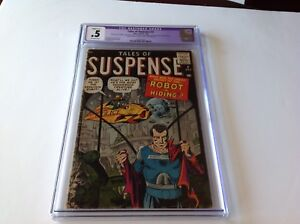 TALES-OF-SUSPENSE-2-CGC-5-ROBOT-IN-HIDING-STEVE-DITKO-HARD-TO-FIND-ATLAS-COMICS