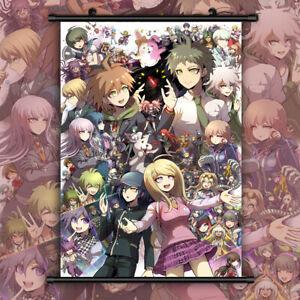 Game Dangan Ronpa HD Print Anime Wall Poster Scroll Room Decor