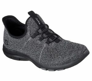 Women's Skechers Galaxies On Air Casual Shoe 23452/BBK Black/Black Brand New