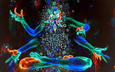 "Psychedelic Trippy Art Silk Cloth Poster 40 x 24"" Decor 57"