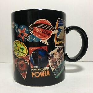 Harley-Davidson-Coffee-Mug-International-amp-Domestic-Location-Logos-16-oz