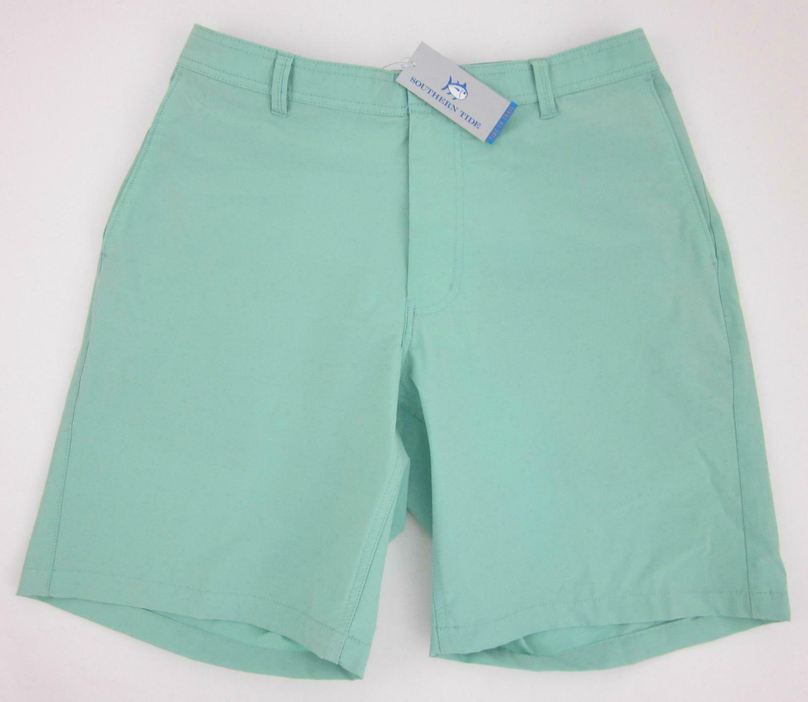 NWT  Southern Tide 'Tide To Trail' Shorts   Heron Green   Medium MSRP