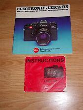 Leitz Leica R3 Instructions & Catalog
