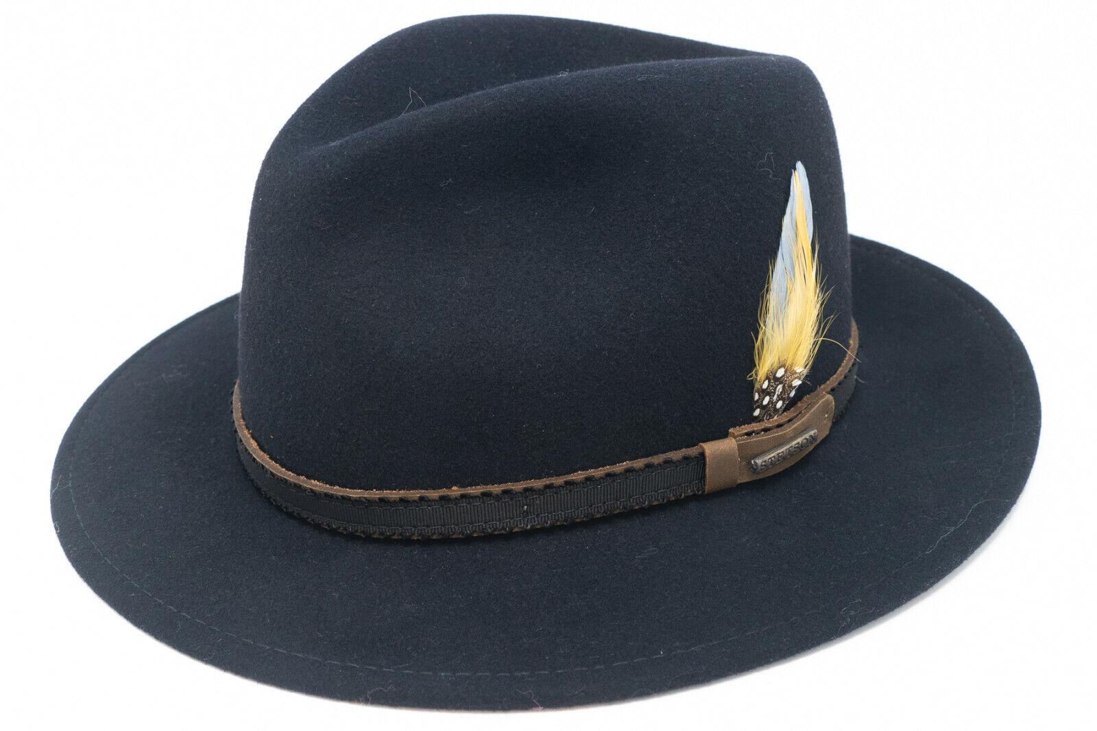 STETSON Herren VITA FELT Traveller Hut aus Wolle in blau 2528010 2