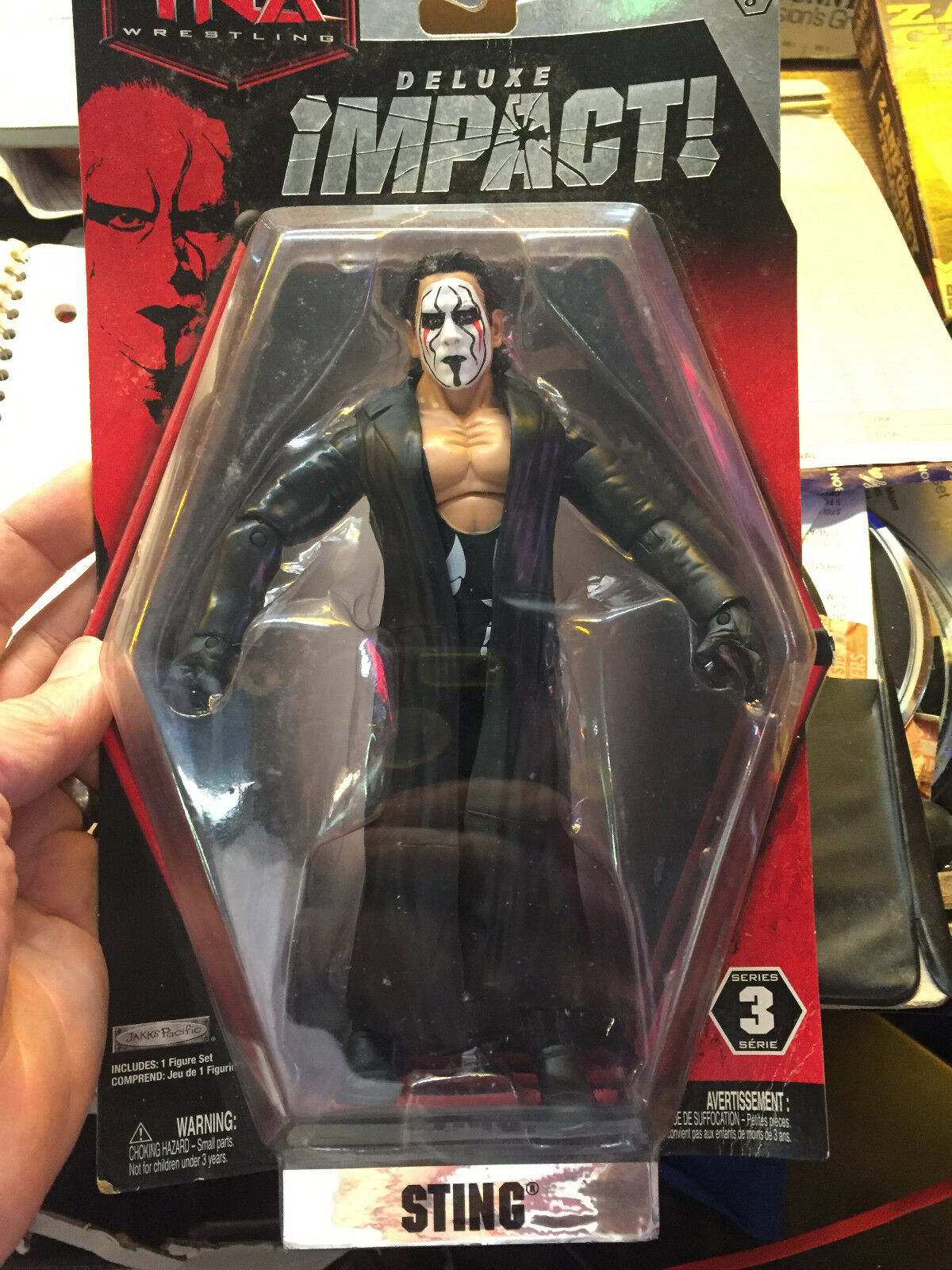 Sting Action Figure RARE -----Tna deluxe impact---series 3----Nuovo