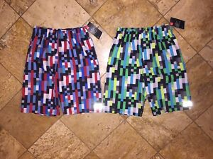 3013755d1c NWT Under Armour Set of 2 UA Pixel Zoom Volley Swimsuit Surf Shorts ...