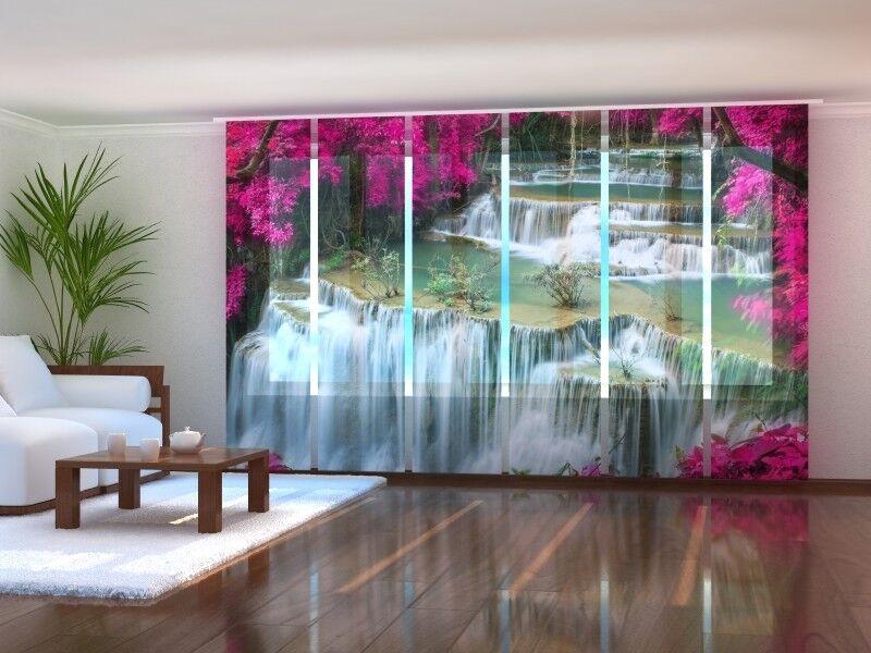 Fotogardine hermoso cascada, cortina de de de paneles, schiebegardinen, a medida b9faf3