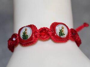 Saint-Jude-Red-Handmade-Bracelet-San-Judas-Tadeo-Pulsera-De-Hilo-Rojo