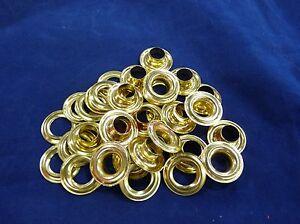 C.S.OSBORNE #G1 Brass Plain Rim Grommets And Washers Size #2 Gross