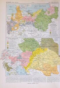 Historische Landkarte Europa 18th Jahrhundert Austrian Reich Ungarn Bohème Tyrol