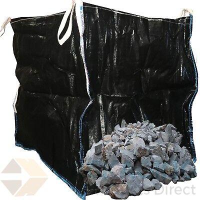 2 x BLACK Bulk Bag Builders Dumpy Bags Tonne/Ton Bag LARGE 1 Ton Bags