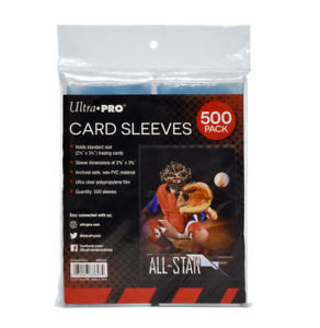 500-Ultra-Pro-Soft-Trading-Card-Sleeves-Acid-Free-No-PVC-Standard-Size-Clear