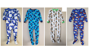 NWT-CARTER-039-S-BABY-TODDLER-BOY-039-S-FLEECE-BLANKET-SLEEPER-12M-5T