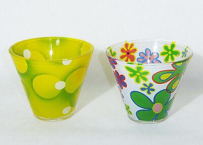 Vasetto Bicchiere Fantasia 8,5 Cm In Vetro Per Decorazioni E Arredo Il Consumo Regolare Di Tè Migliora La Salute