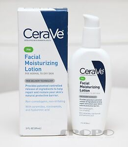 New-CeraVe-PM-Facial-Moisturizing-Lotion-89ml-Dermatologist-Recommended