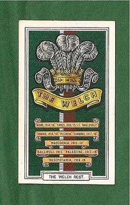 The WELCH WELSH REGIMENT  Featherheads 1939 original card