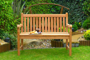2 Seater Teak Wooden Garden Bench Outdoor Patio Seat Chair Wood Furniture 4ft Uk Ebay