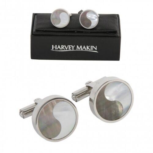 HARVEY MAKIN YING AND YANG STYLE CUFF LINKS