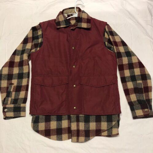 vest Usa Vintage shirt met bijpassende Made Woolrich wol flanel In omkeerbaar NmO80vnywP