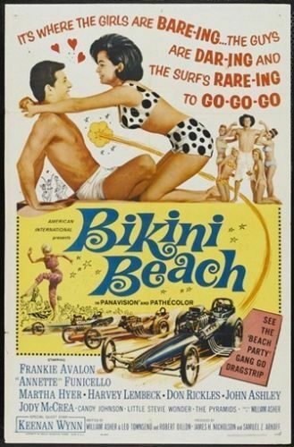 1964 Frankie Avalon Teen Beach Party Vintage-Style 12x18 Poster Bikini Beach