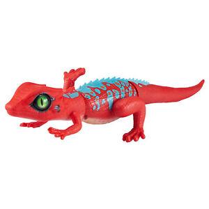 Zuru-Robo-Vivo-Al-Acecho-Lagarto-Rojo-Azul-Robotico-Pet-con-Realista