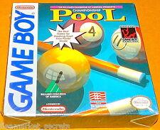 CHAMPIONSHIP POOL NES Nintendo GAMEBOY Game Boy SEALED NEW BILLARD BALLS CUE