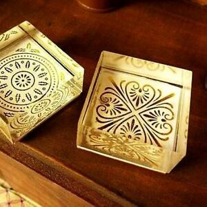 Medallion pattern clear acrylic block rubber stamps for Custom craft rubber stamps