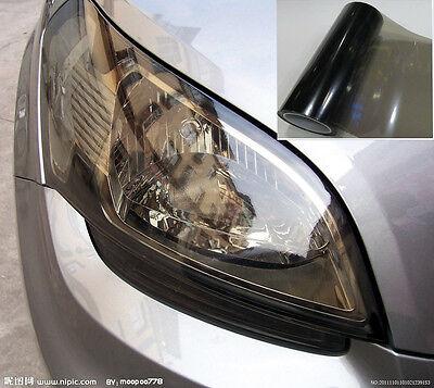 "12"" x 12"" Car Glossy Light Black Smoked Headlight Taillight Tint Film Wrap Vinyl"