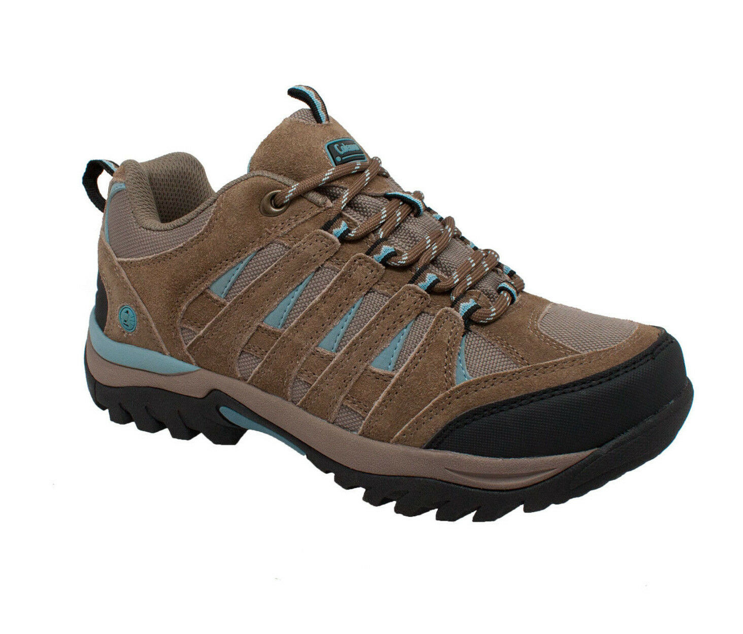 New Womens Coleman Keystone Hiker Work Leather Suede Casual Comfort Boot Brown