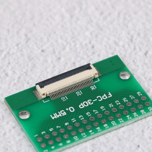 1Pcs 30 pin 0.5mm FFC FPC to 30P DIP 2.54mm PCB converter board adapter  I