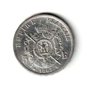 5-FRANCS-1867-A-Napoleon-III-tete-lauree-Paris-F-331-10-TTB